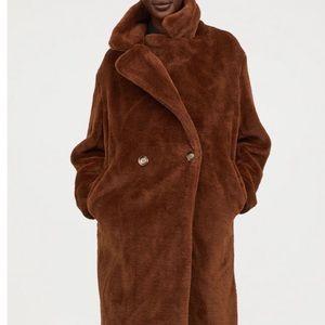 HM Faux Fur Brown Coat